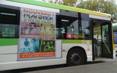 Playbox sur les bus de La Roche sur Yon !